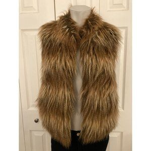 Pins&Needles Brown Faux Fur Vest Size Extra Small